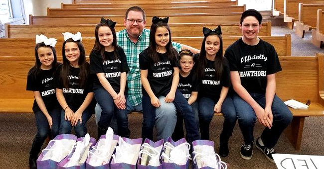 Michael Hawthorn with his seven adopted siblings. | Source: facebook.com/Michael Hawthorn