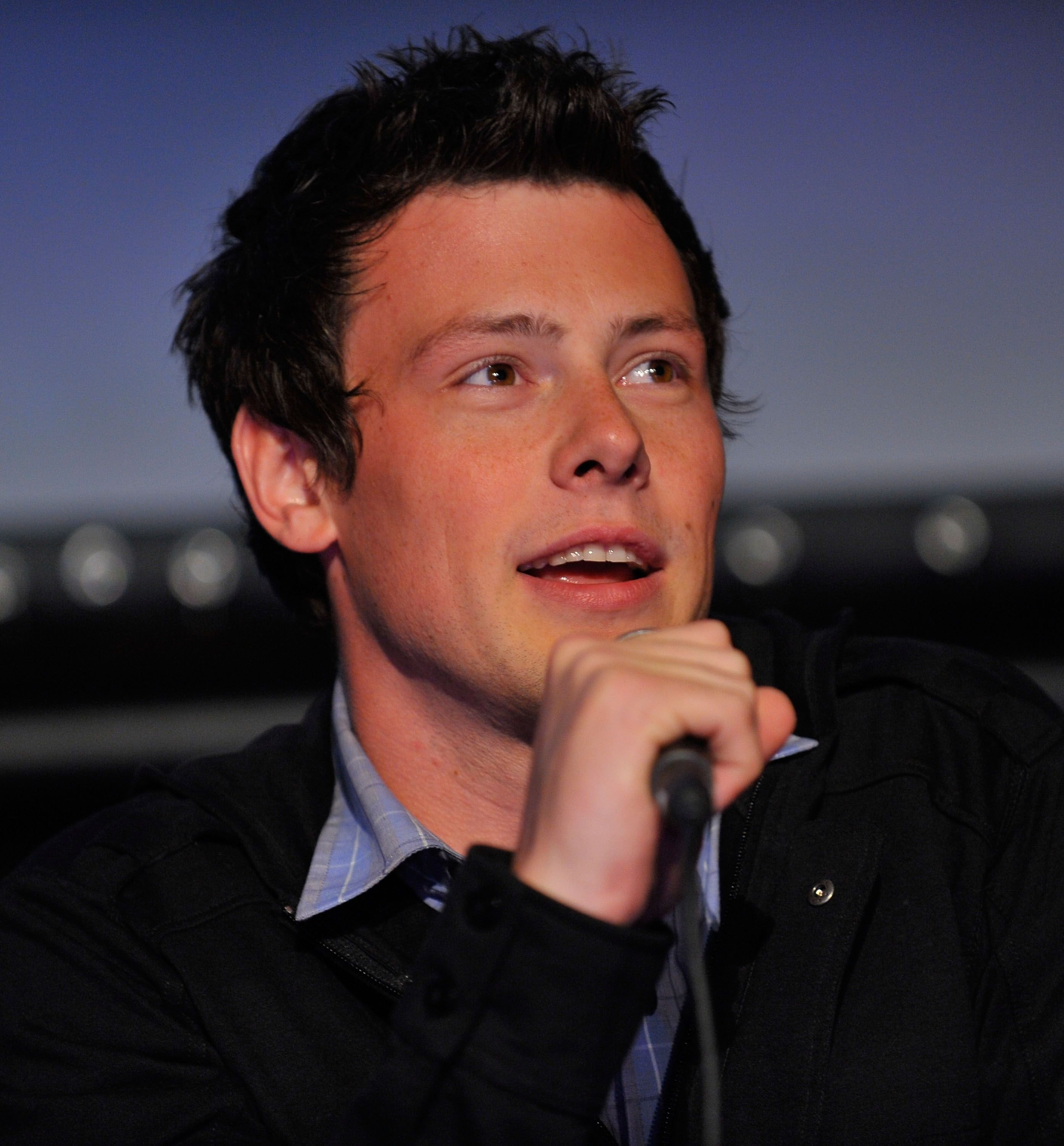 Cory Monteith at a Q&A session at the GLEE premiere event in 2009 in Santa Monica | Source: Getty Images