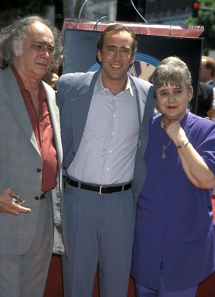 Nicolas Cage, his father August Coppola and mother Joy Vogelsang attend the Hollywood Walk of Fame Star Ceremony to Honor Nicolas Cage , July 198 | Source: Getty Images