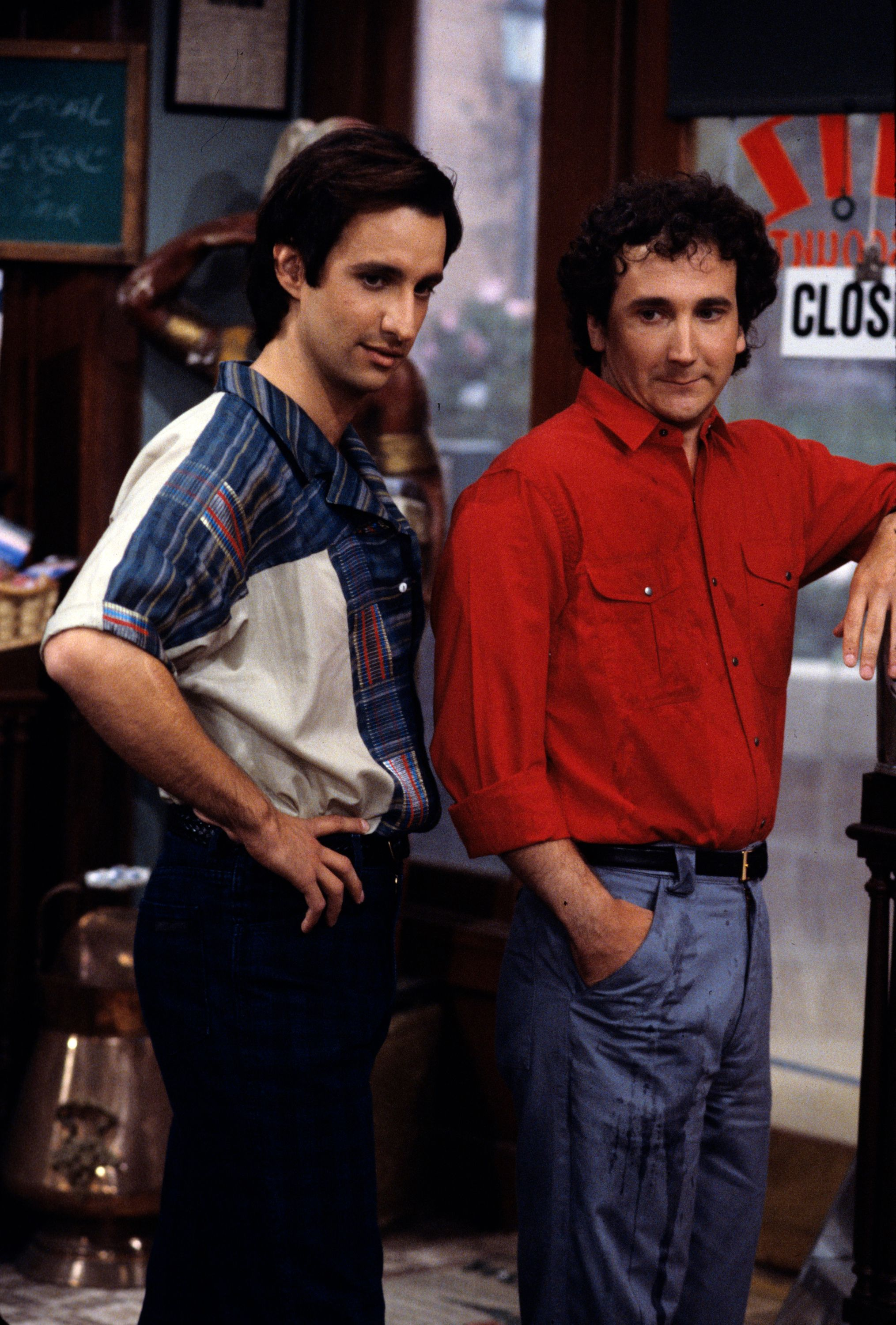 """On an Episode of the Season 2 of """"Perfect Strangers,"""" Balki (Bronson Pinchot) and Larry (Mark Linn-Baker) join a health club on September 24, 1986 