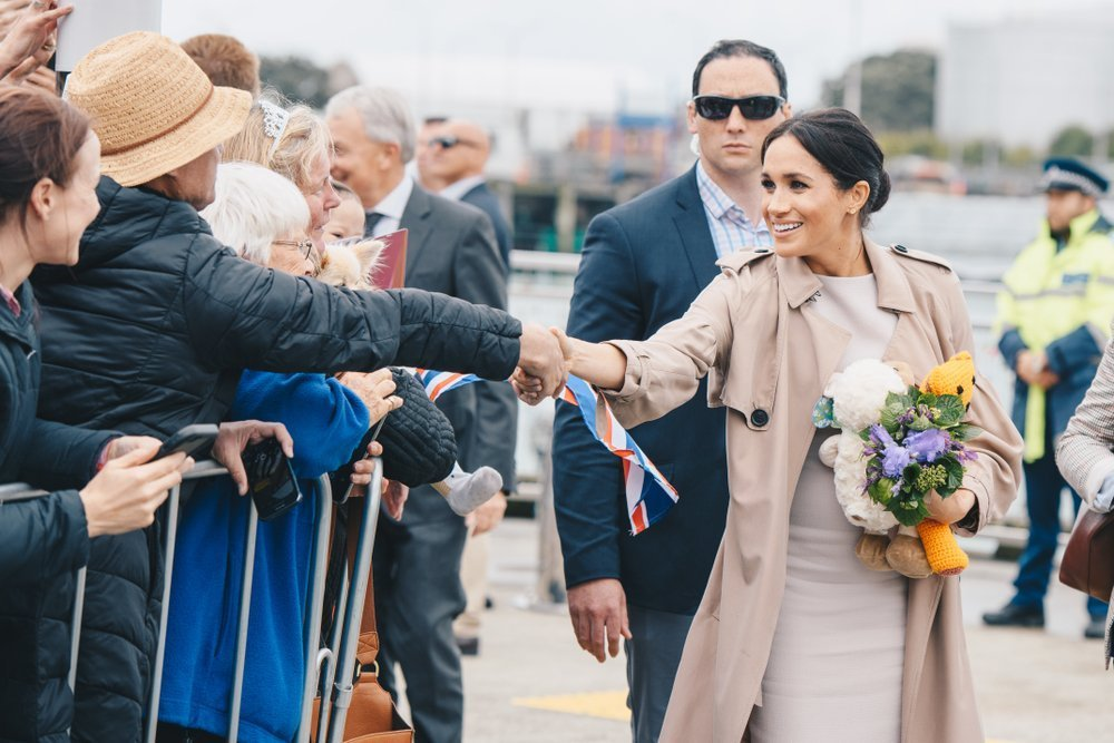 The Duchess of Sussex visiting Auckland's Viaduct Harbour | Source: Shutterstock