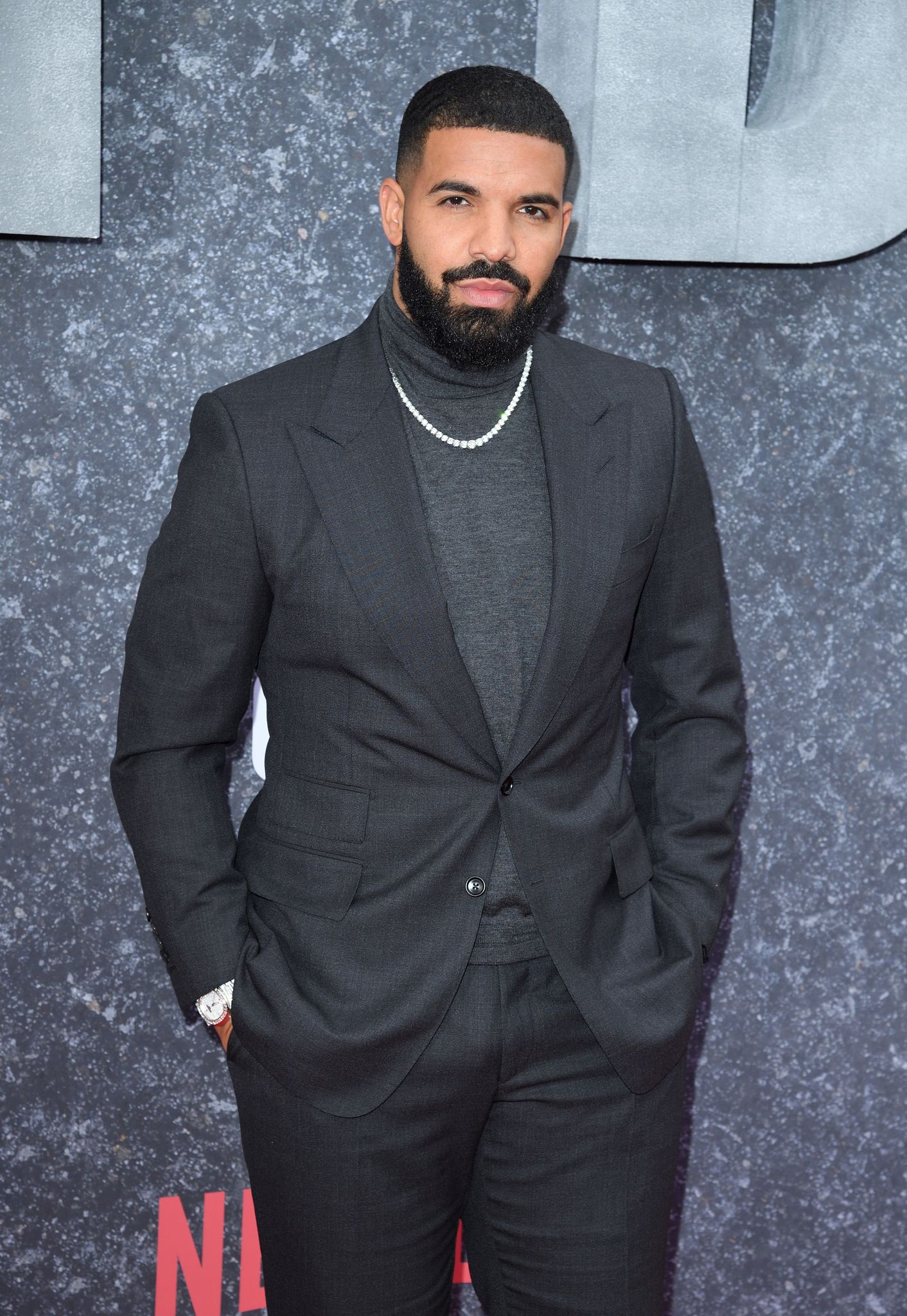 """Drake at the premiere of """"Top Boy"""" in September 2019 in London, England 