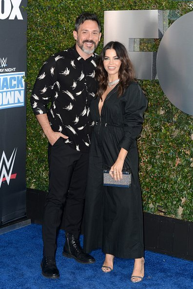 Steve Kazee and Jena Dewan at WWE 20th Anniversary Celebration Marking Premiere of WWE Friday Night SmackDown on FOX in Los Angeles, California.| Photo: Getty Images.