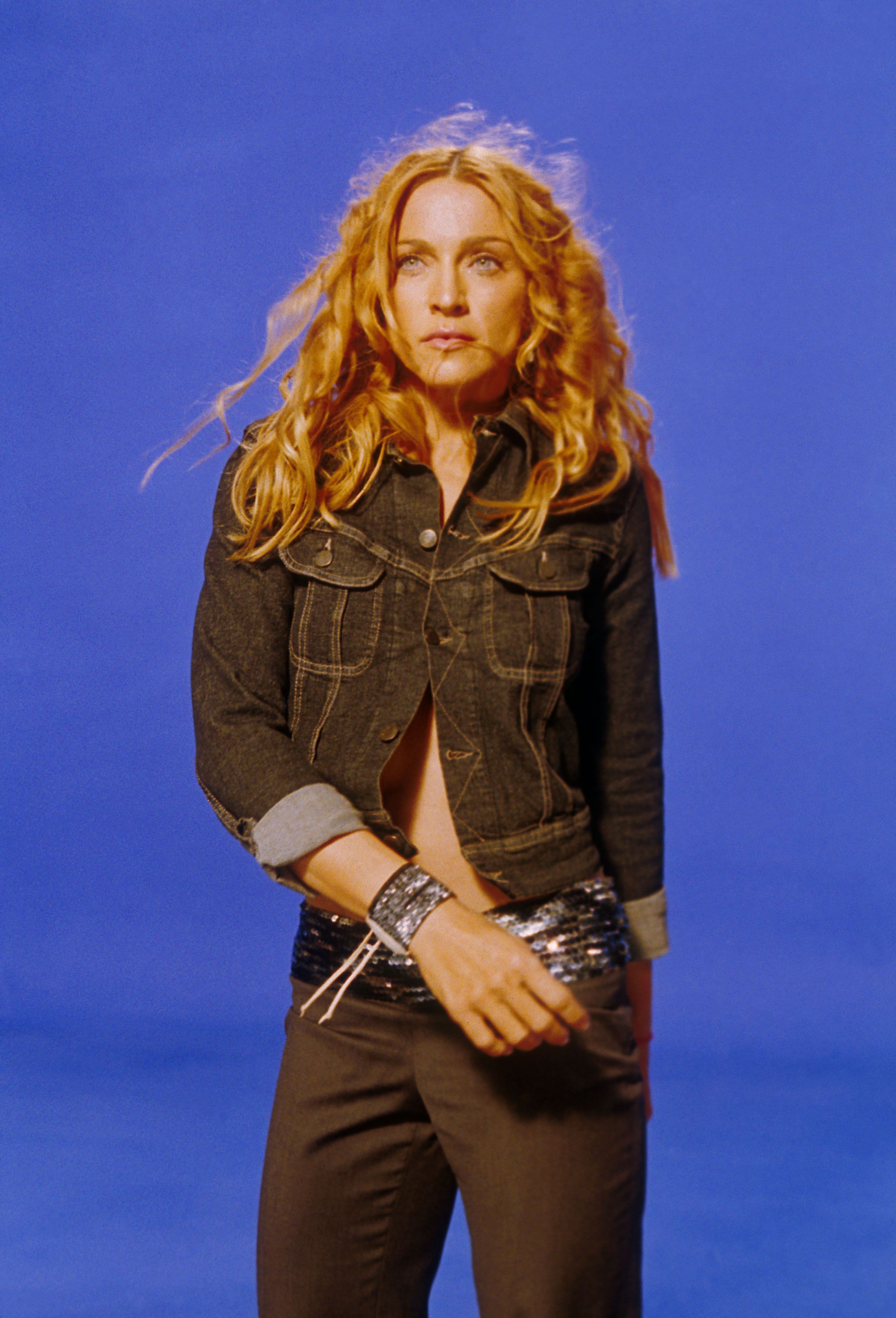 """Madonna on the set of her """"Ray of Light""""video on September 12, 1998 