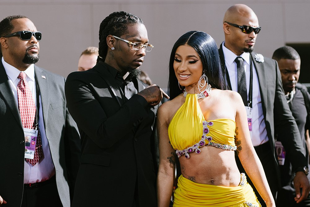 Offset and Cardi B arrive at the 2019 Billboard Music Awards at MGM Grand Garden Arena on May 01, 2019 in Las Vegas, Nevada. I Image: Getty Images.