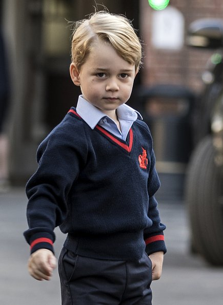 Prince George at Thomas's school in Battersea, southwest London on September 7, 2017.   Photo: Getty Images