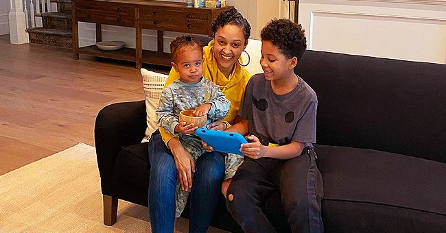 Tia Mowry Shares New Family Photo With Baby Daughter Cairo and Son Cree