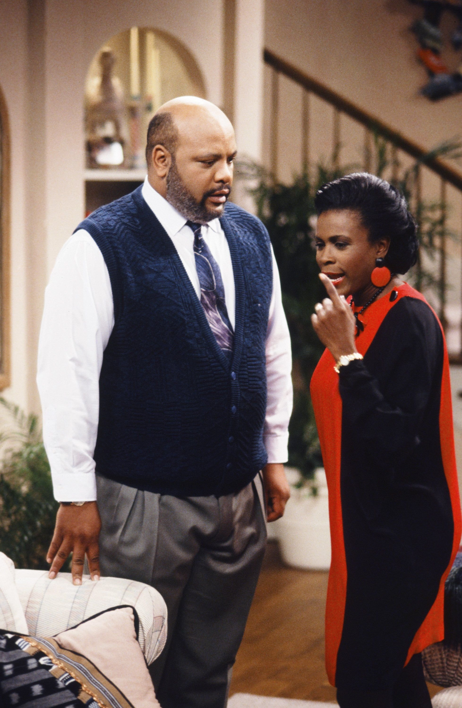 """James Avery as Philip Banks, Janet Hubert as Vivian Bank during the """"Six Degrees of Graduation"""" Episode 24 of """"The Fresh Prince of Bel Air.""""   Source: Getty Images"""