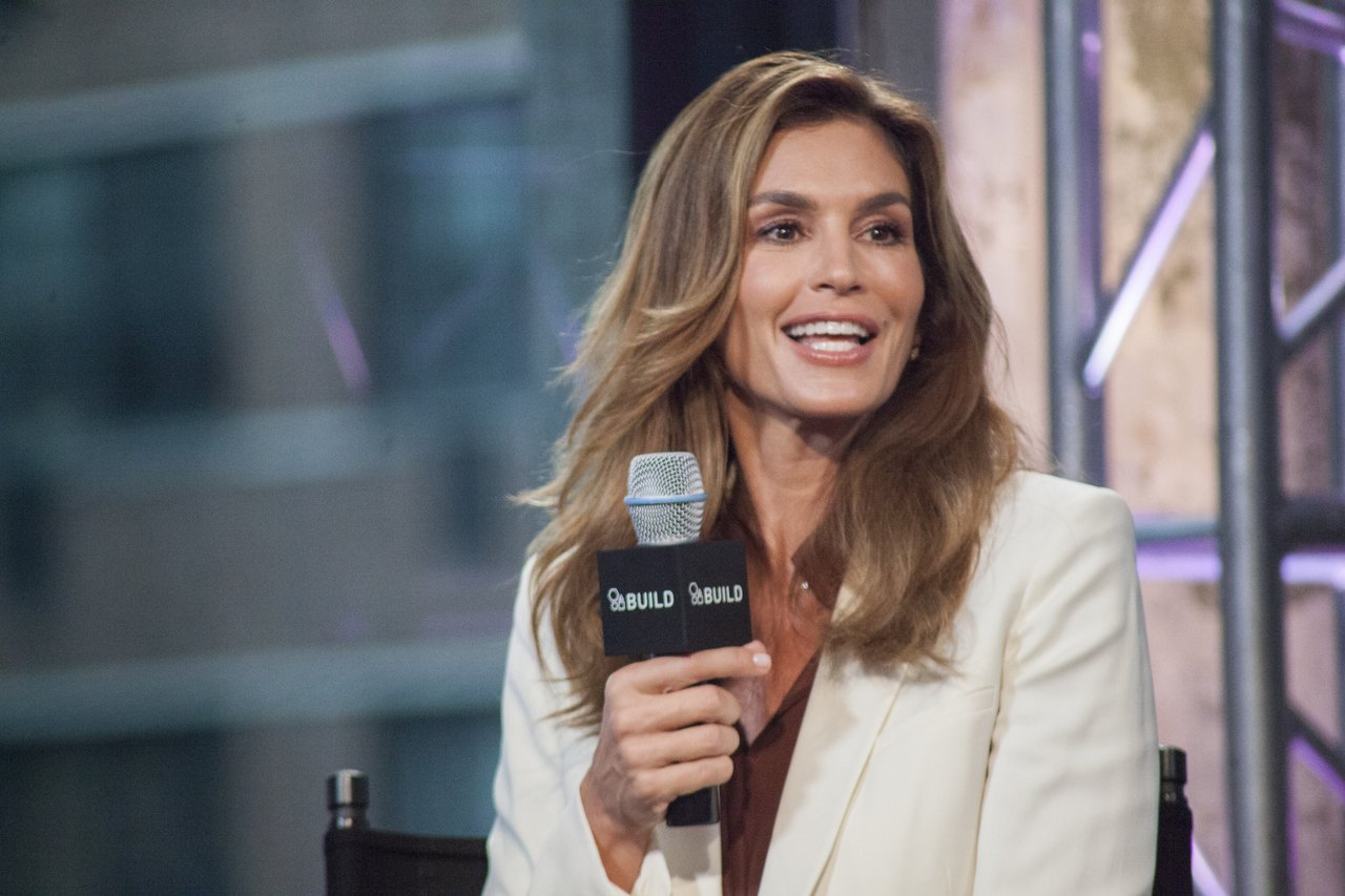 "Cindy Crawford attends AOL Build Presents: Cindy Crawford's ""Becoming"" at AOL Studios In New York on September 30, 2015 in New York City 