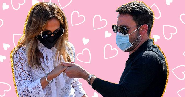 Jennifer Lopez assisted by Ben Affleckas they boarded a Vaporetto taxi boat on September 9, 2021, to attend the 78th Venice Film Festival in Venice   Photo:Filippo Monteforte/AFP/Getty Images