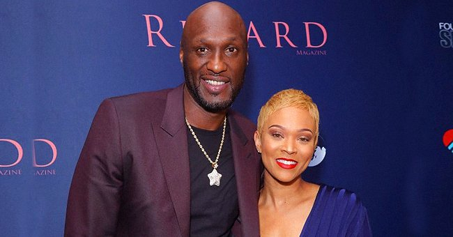 Lamar Odom & Fiancee Sabrina Cozy up Wearing Warm Clothes in a Romantic Photo