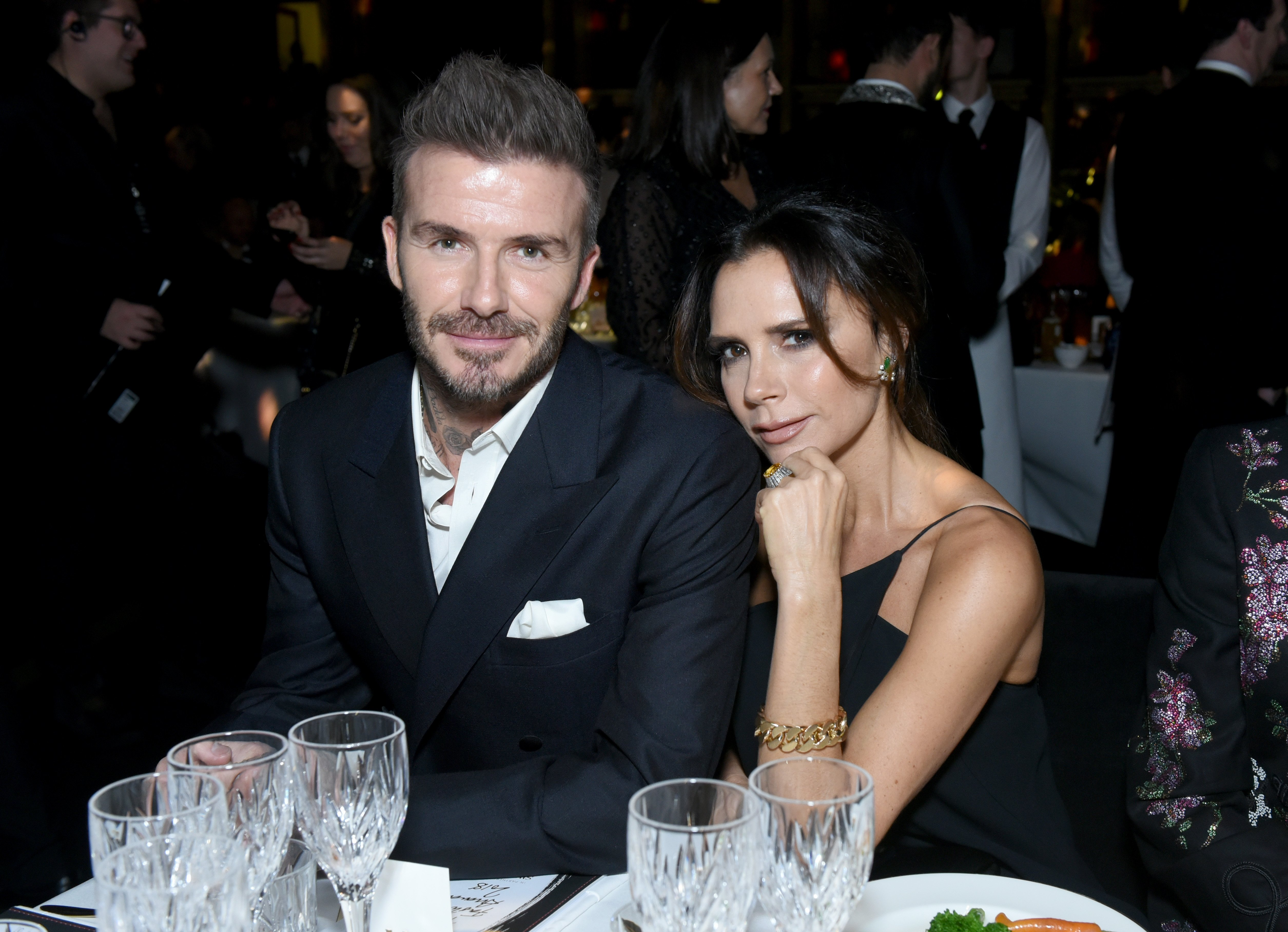 David Beckham and Victoria Beckham attend The Fashion Awards on December 10, 2018, in London, England. | Source: Getty Images.