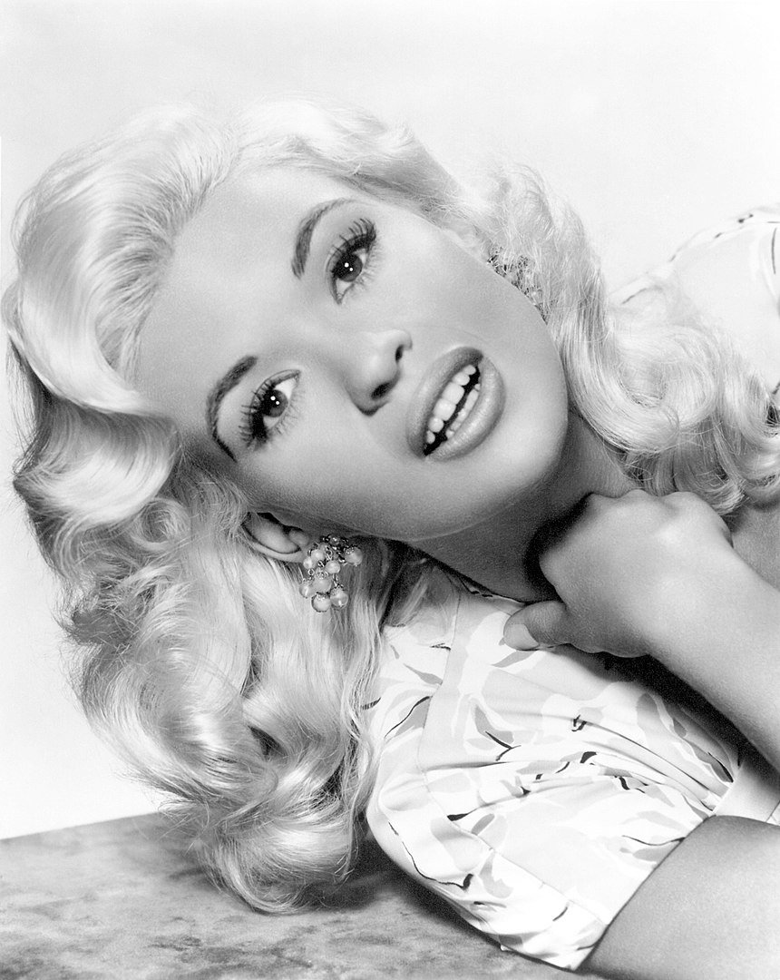 "Jayne Mansfield for the film ""Kiss Them for Me"" in 1957 