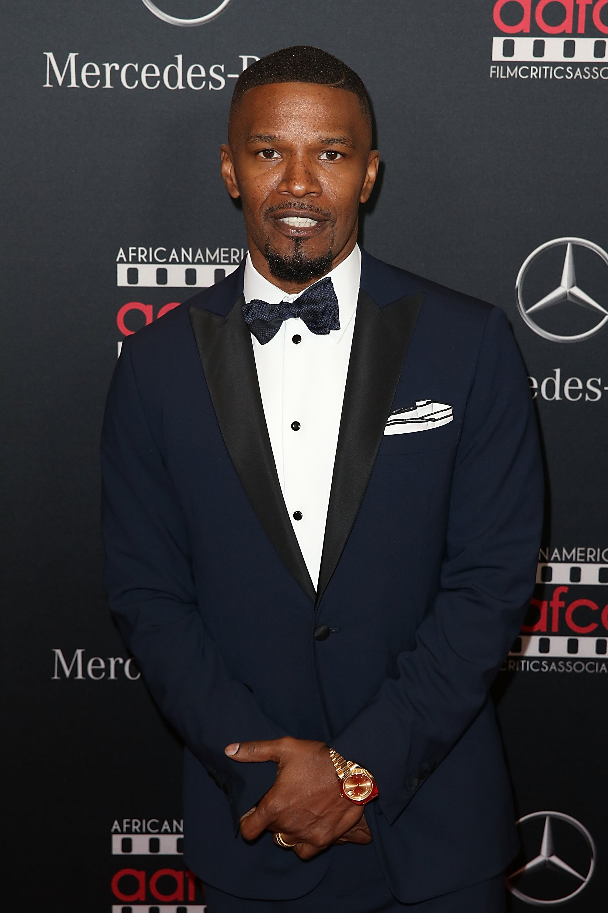 Jamie Foxx attends the Mercedes-Benz and African American Film Critics Association Oscar viewing party in Los Angeles, California on February 28, 2016 | Photo: Getty Images