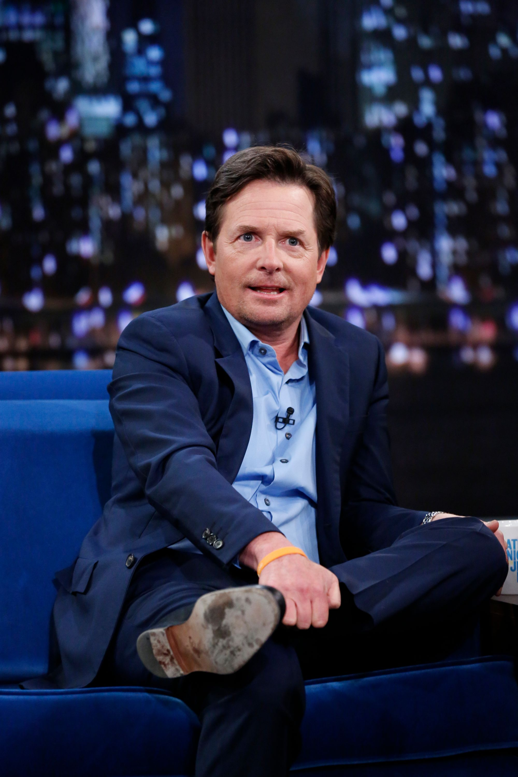 """Michael J. Fox on season 5 of the """"Late Night with Jimmy Fallon"""" on September 25, 2013   Photo: Lloyd Bishop/NBCU Photo Bank/NBCUniversal/Getty Images"""