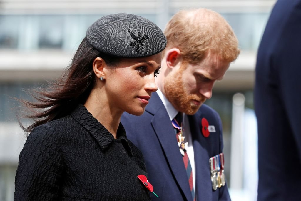 Meghan Markle, Duchess of Sussex and Prince Harry, Duke of Sussex arrive for a service of commemoration and thanksgiving in Westminster Abbey in London on April 25, 2018 | Photo: Getty Images