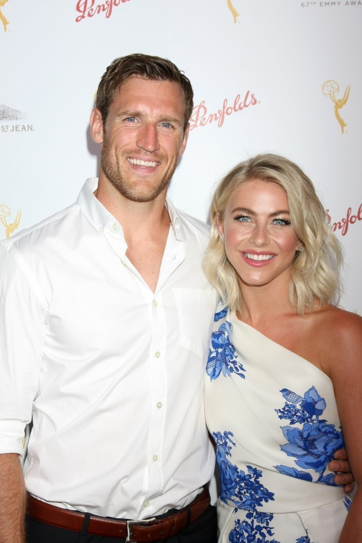 Brooks Laich and Julianne Hough at the TV Academy Choreography Peer Reception on August 30, 2015. | Source: Shutterstock