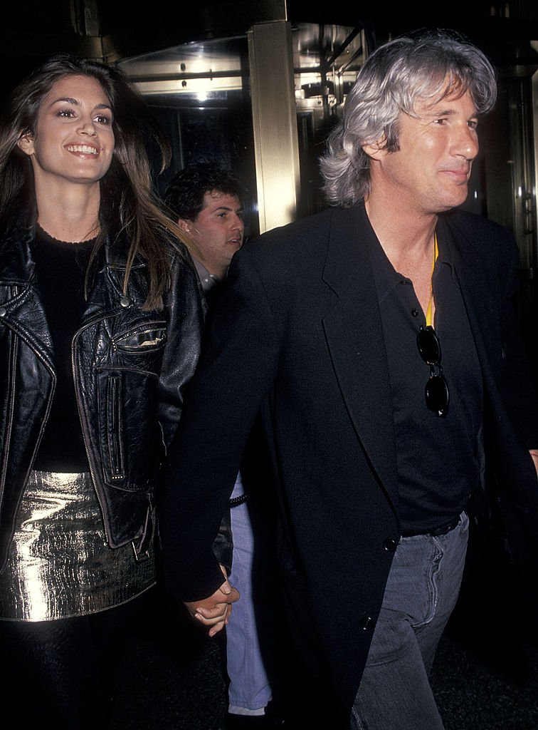 Cindy Crawford and Richard Gere at the Human Rights Rights Watch International Film Festival Opening Night on April 28, 1994 in New York City | Photo: GettyImages