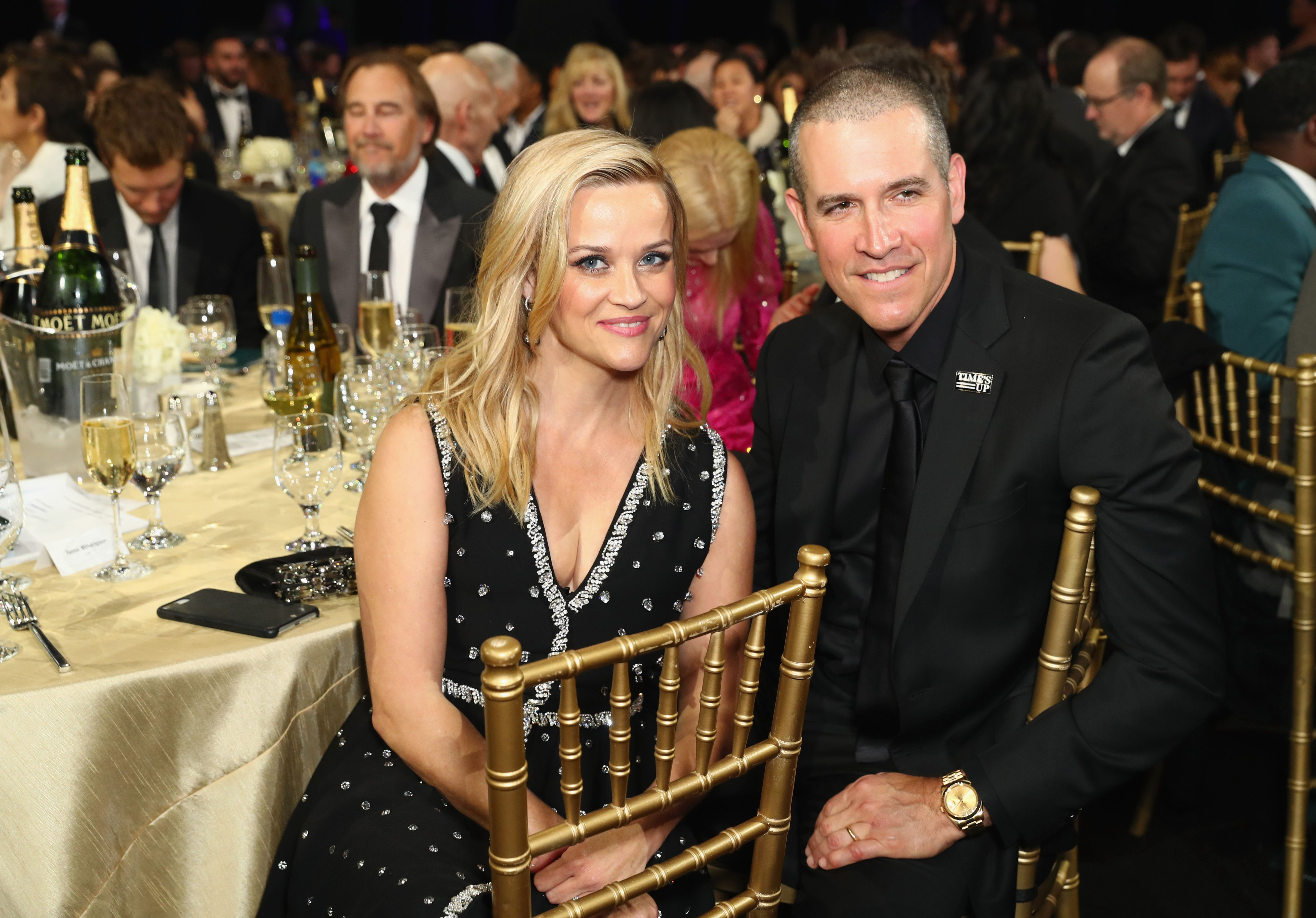 Reese Witherspoon and husband Jim Toth at the 23rd Annual Critics' Choice Awards in 2018 in Santa Monica, California | Source: Getty Images
