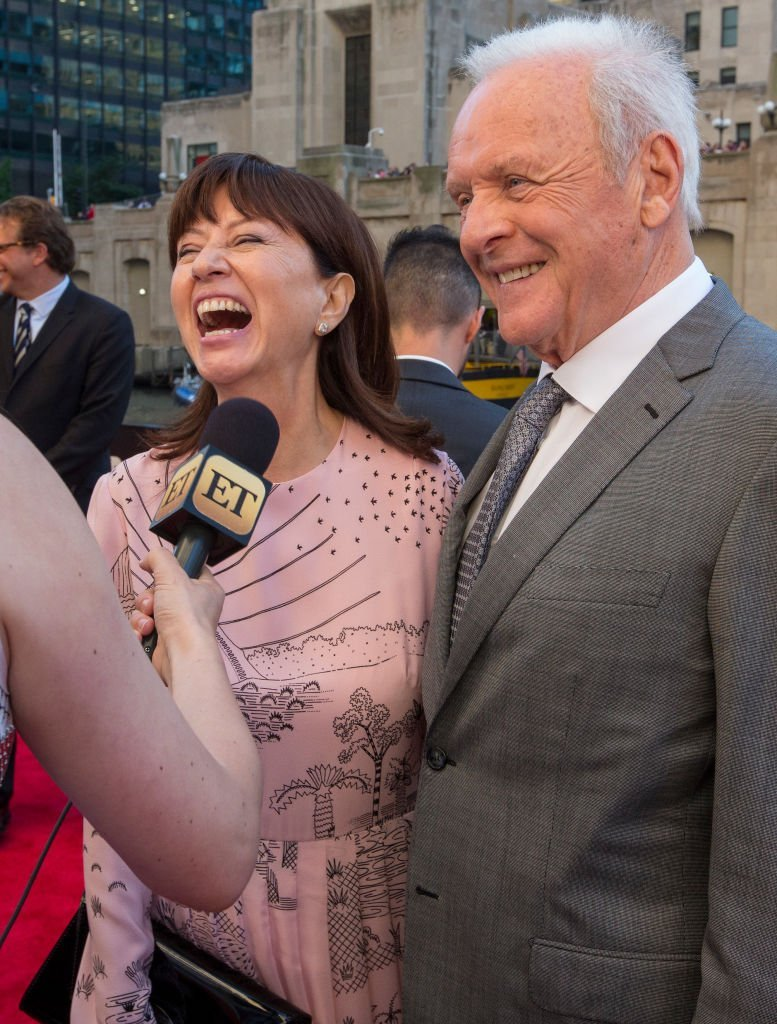 Stella Arroyave and Anthony Hopkins appear at the Transformers: The Last Knight Chicago premiere at Civic Opera Building | Getty Images