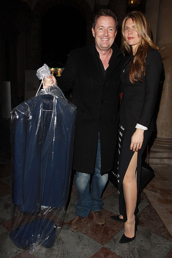 Piers Morgan and Celia Walden at Somerset House on February 18, 2010 | Photo: Getty Images