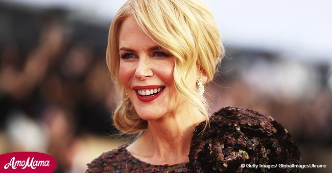 Nicole Kidman flashes her incredibly toned back in a gold cut-out gown during recent appearance