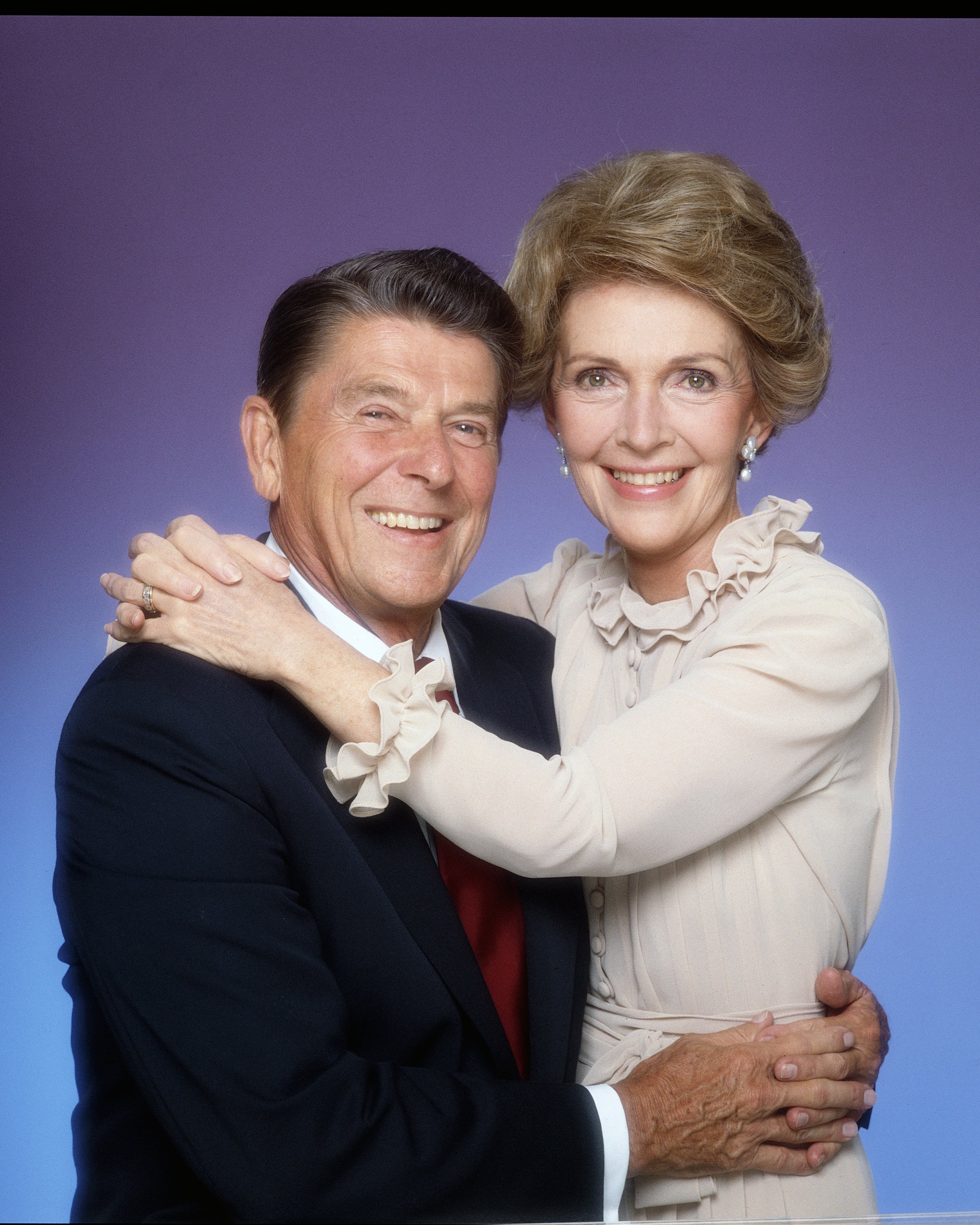 President Ronald Reagan and his wife Nancy pose for a portrait Session in January, 1981 in Los Angeles, California.   Source: Getty Images