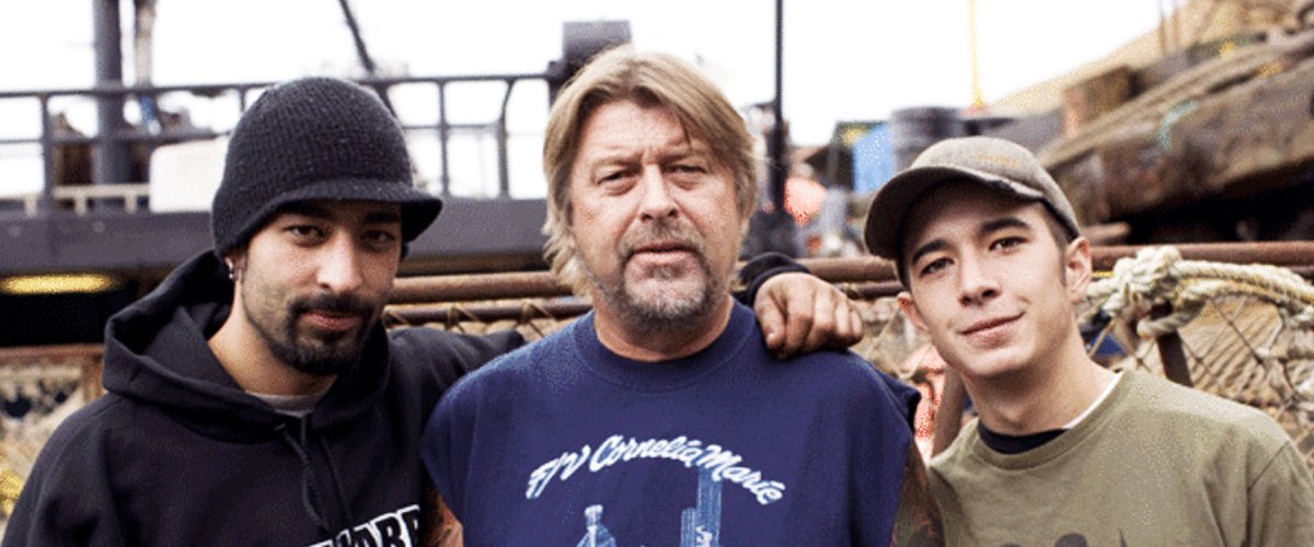 """Casts of the Discovery Channel reality show, """"Deadliest Catch,"""" Phil Harris and his sons, Jake and Josh Harris 