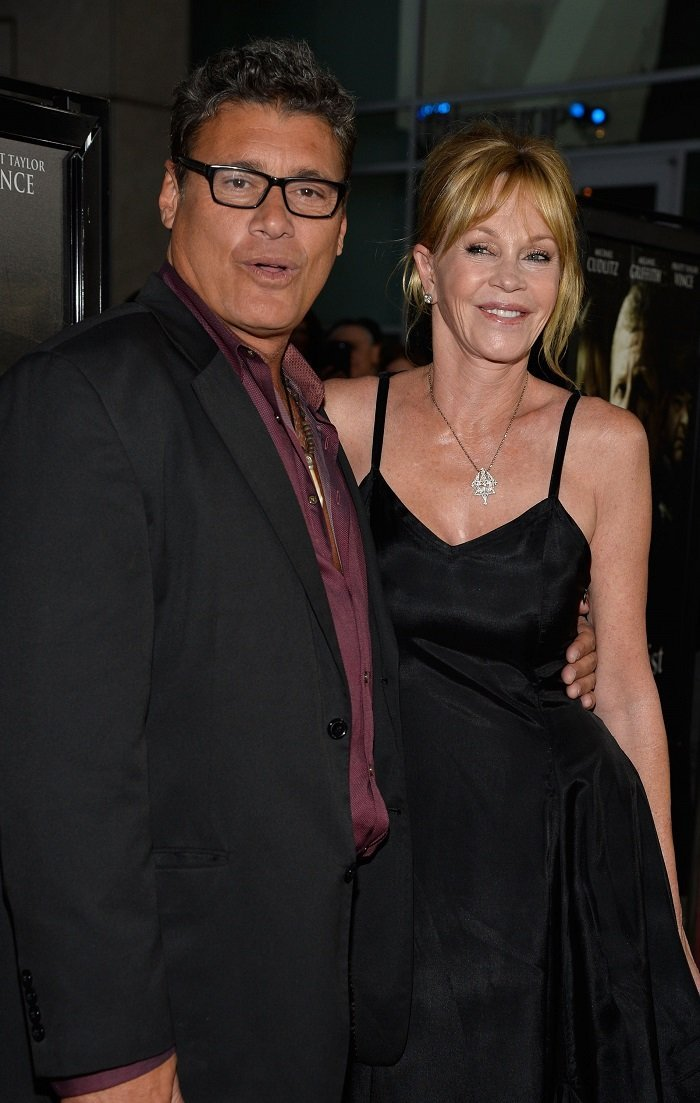 "Steven Bauer and Melanie Griffith in the Premiere Of ""Dark Tourist"" l Picture: Getty Images"