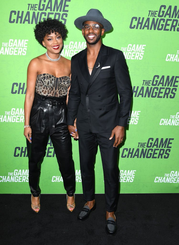 """Chris Paul and Jada Crawley arrives at the LA premiere Of """"The Game Changers"""" at ArcLight Hollywood on September 4, 2019   Photo: Getty Images"""