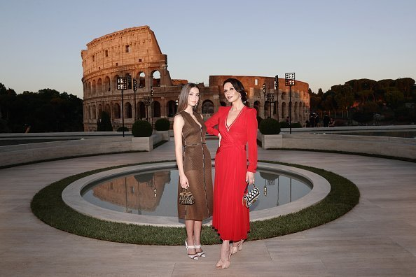 Catherine Zeta Jones and Carys Zeta Douglas attend the Cocktail at Fendi Couture Fall Winter 2019/2020 in Rome, Italy. | Photo: Getty Images