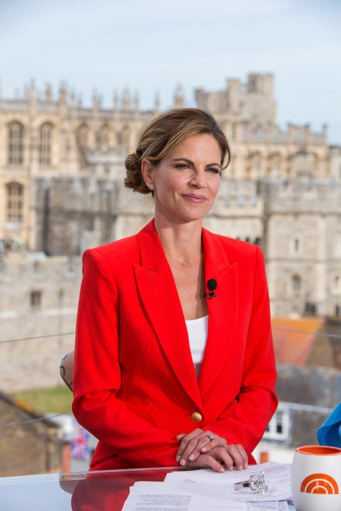 Natalie Morales on the TODAY show set for the wedding of Prince Harry and Meghan Markle at Windsor Castle on Friday May 18, 2018   Photo: Getty Images