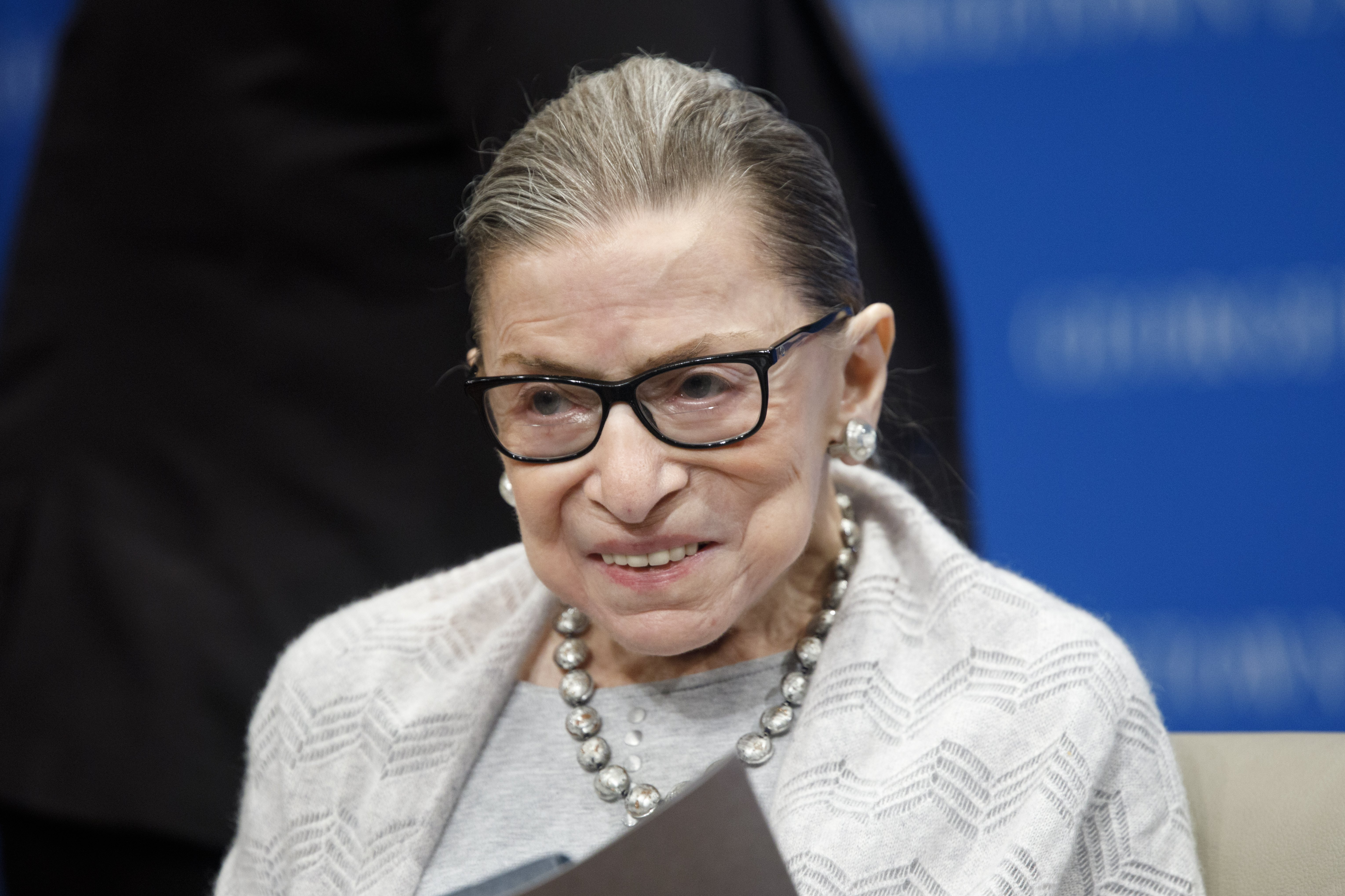 Late 87-year-od Supreme Court Justice Ruth Bader Ginsburg at the Georgetown Law Center in Washington, DC. | Photo: Tom Brenner/Getty Images