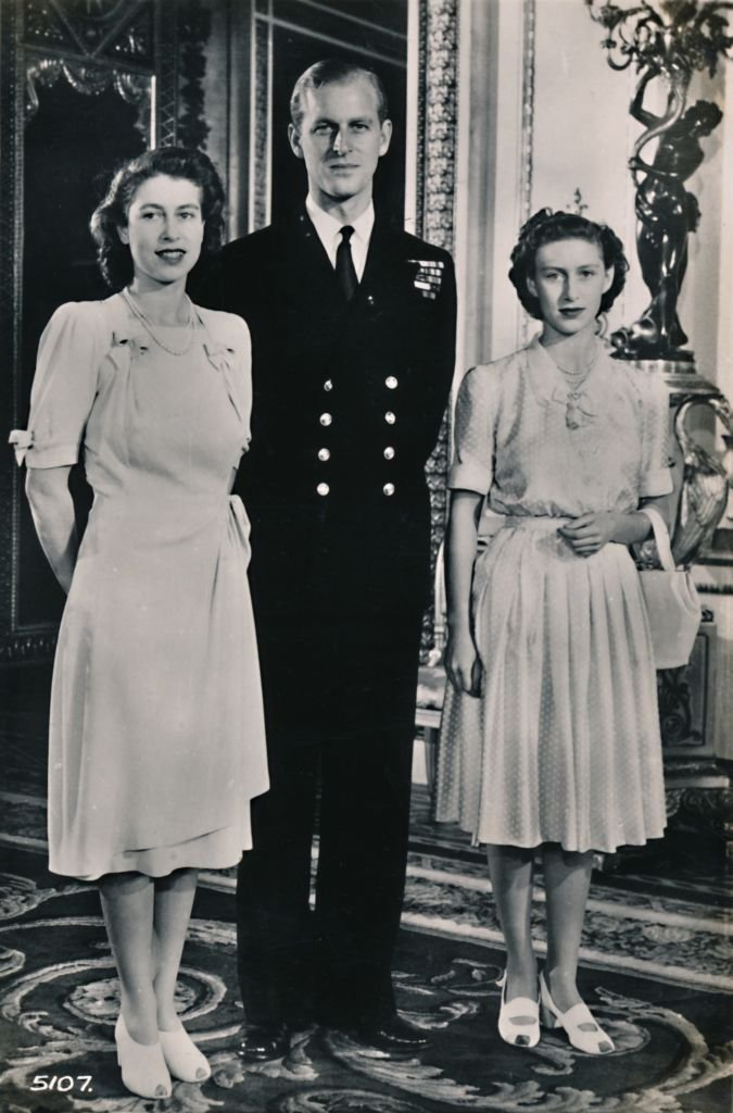 Queen Elizabeth II, Prince Philip, and Princess Margaret. I Image: Getty Images.