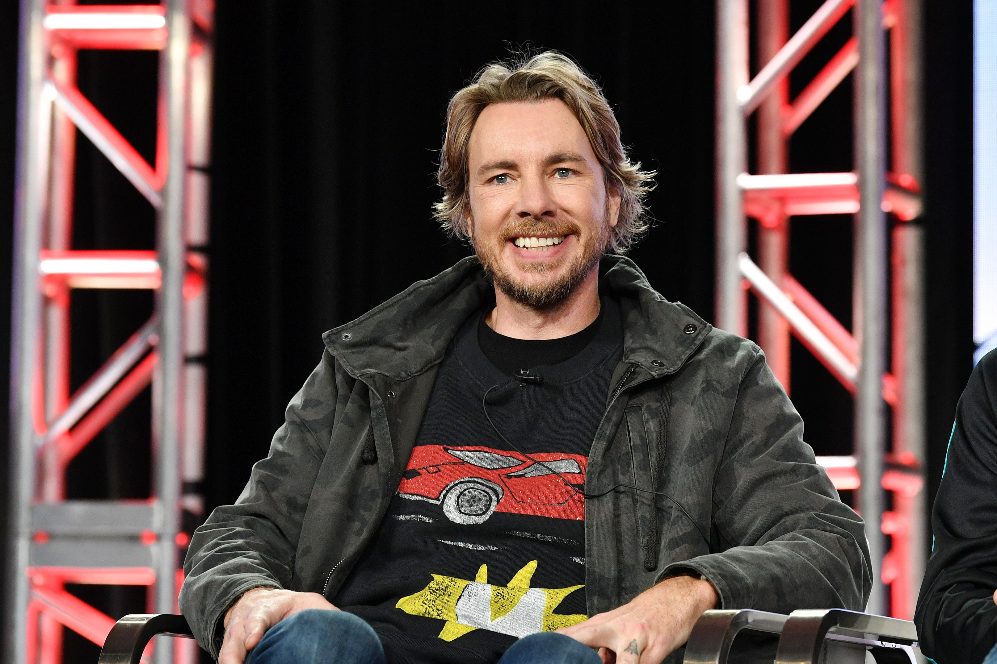 Dax Shepard speaks during the Discovery MotorTrend segment of the 2020 Winter TCA Press Tour on January 16, 2020, in Pasadena, California. | Source: Getty Images.