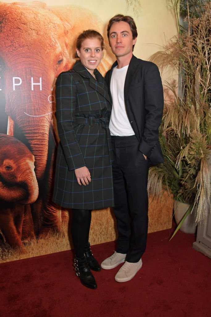 """Princess Beatrice of York and Edoardo Mapelli Mozzi attend the London Premiere of Apple's acclaimed documentary """"The Elephant Queen"""". 