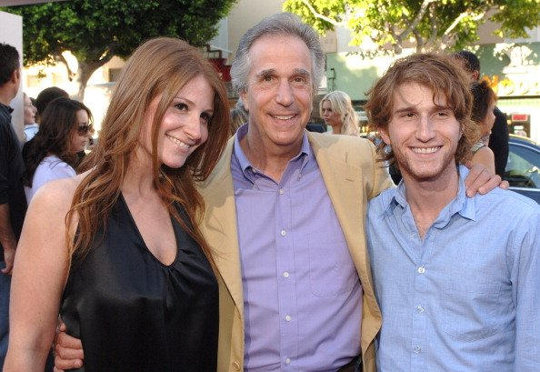 "Henry Winkler and his daughter Zoe and son Max during ""Click"" Los Angeles Premiere - Red Carpet at Mann Village Theatre in Westwood, California 