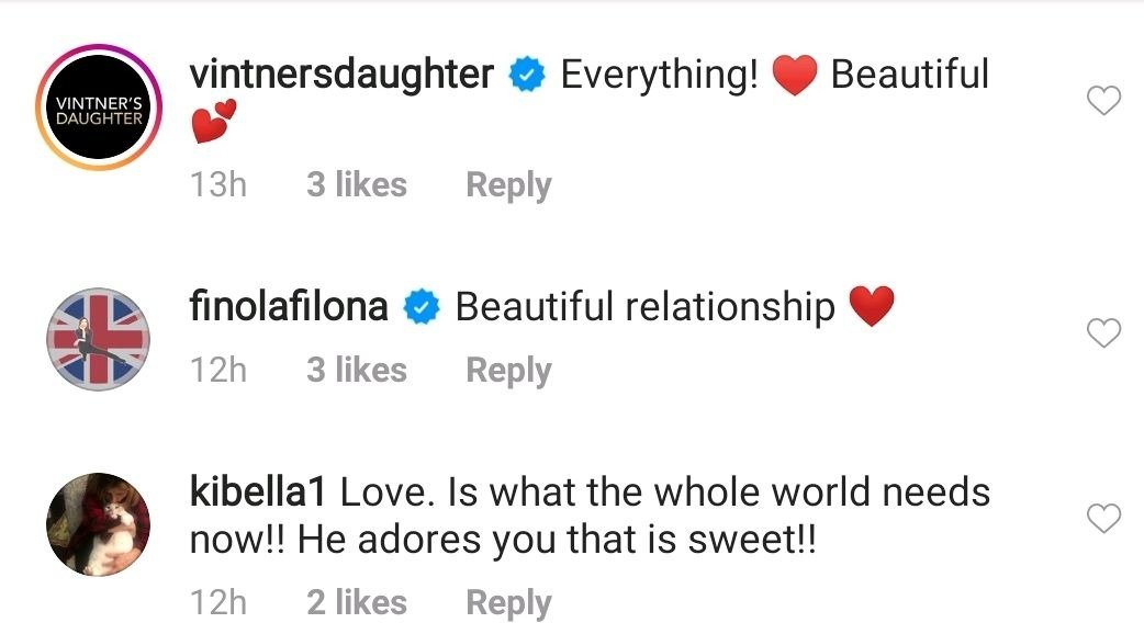 Fans' comments under a picture post made by Hilaria Baldwin on her Instagram page. | Photo: Instagram/@hilariabaldwin