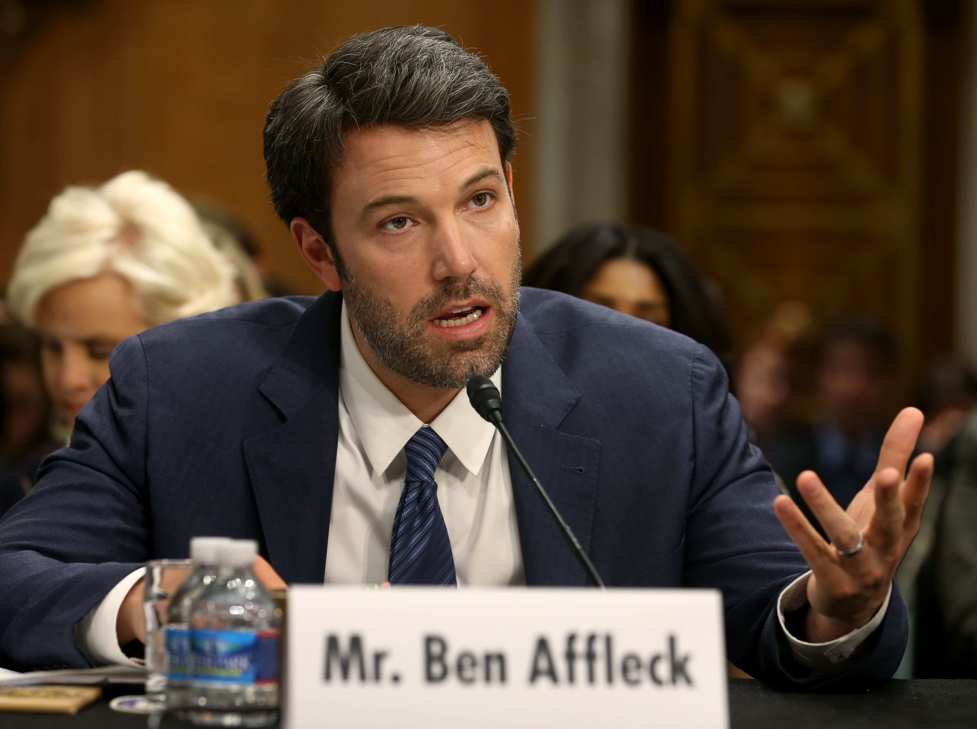 Ben Affleck during his 2014 testimony in the Senate Foreign Relations Committee hearing in Washington D.C. | Photo: Getty Images