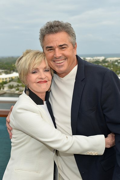 Florence Henderson and Christopher Knight attends Love Boat Cast Christening Of Regal Princess Cruise Ship at Port Everglades on November 5, 2014 in Fort Lauderdale, Florida | Photo: Getty Images