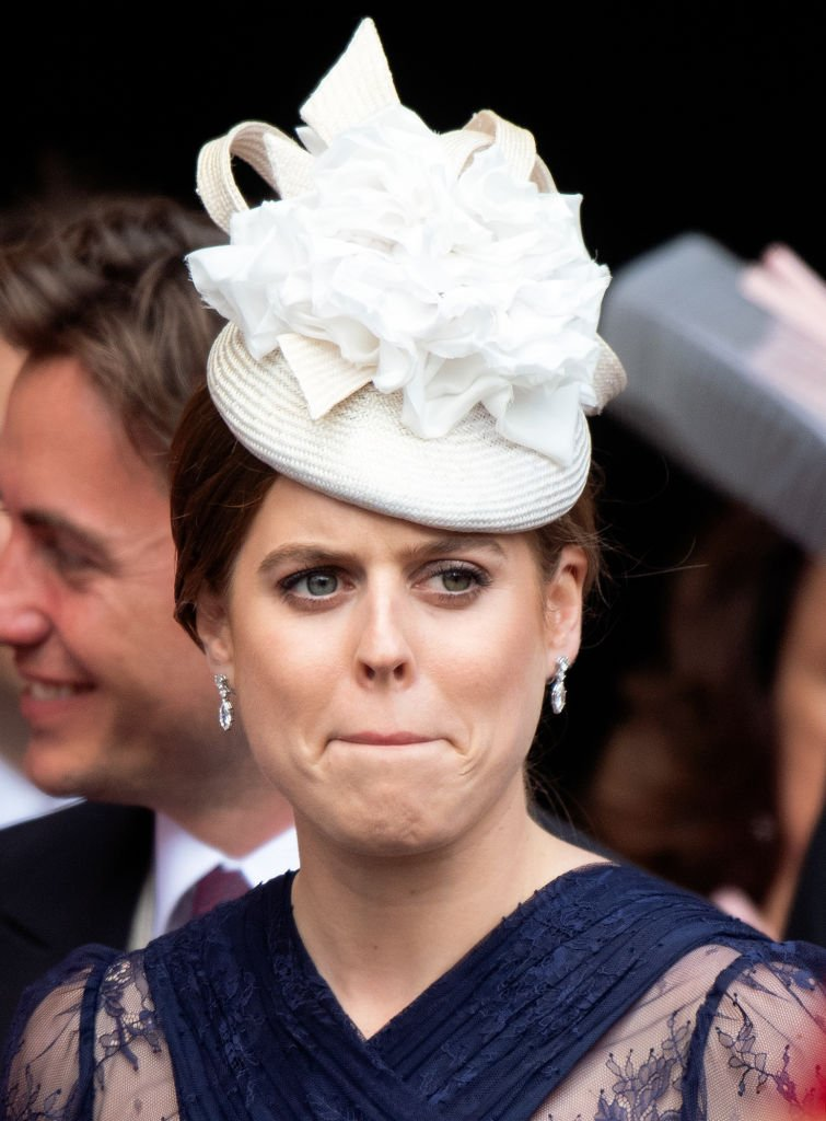 Princess Beatrice attends Lady Gabriella Winsor's wedding in Windsor, England on May 18, 2019 | Photo: Getty Images