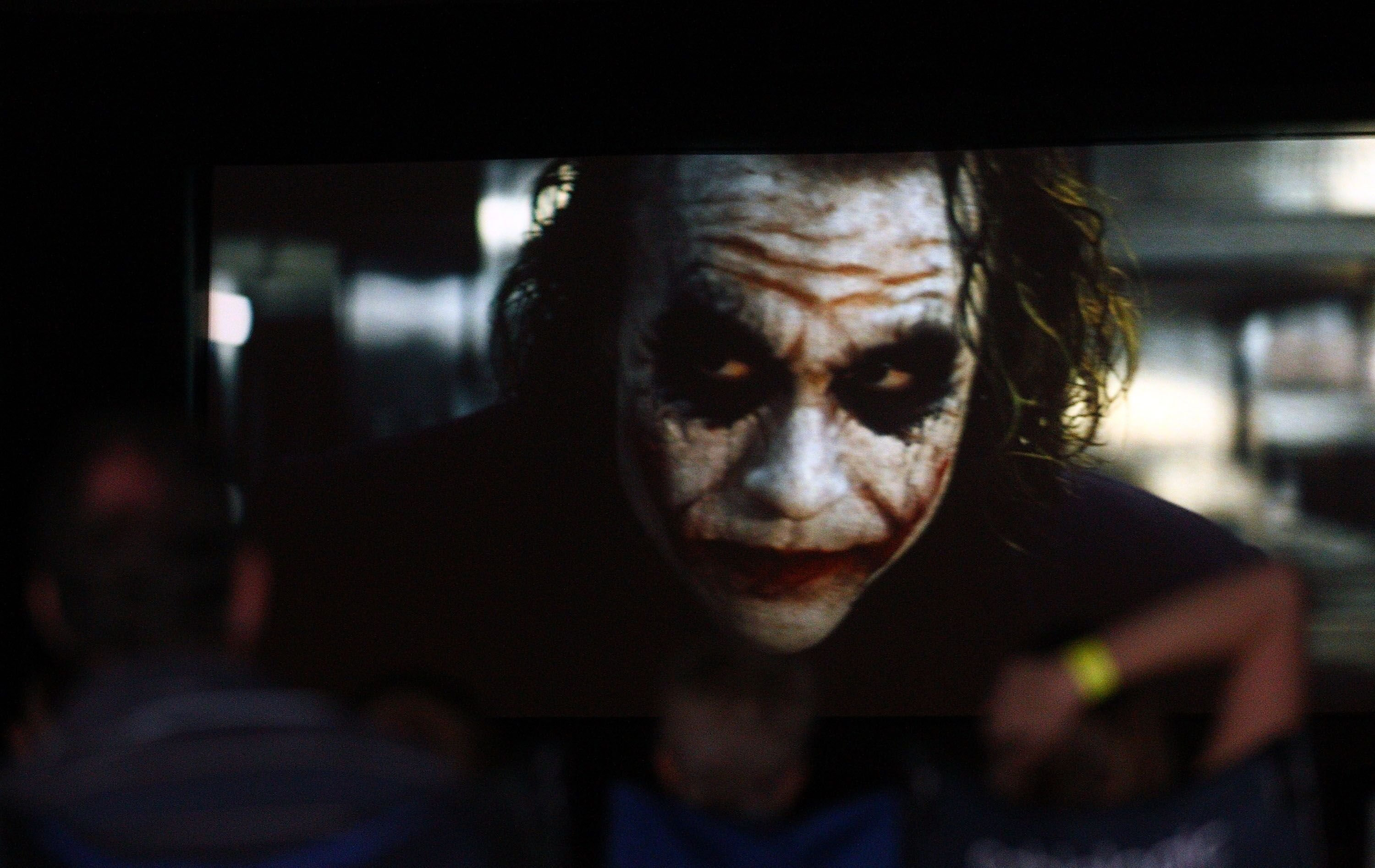 "Heath Ledger as the Joker in ""The Dark Knight"" 