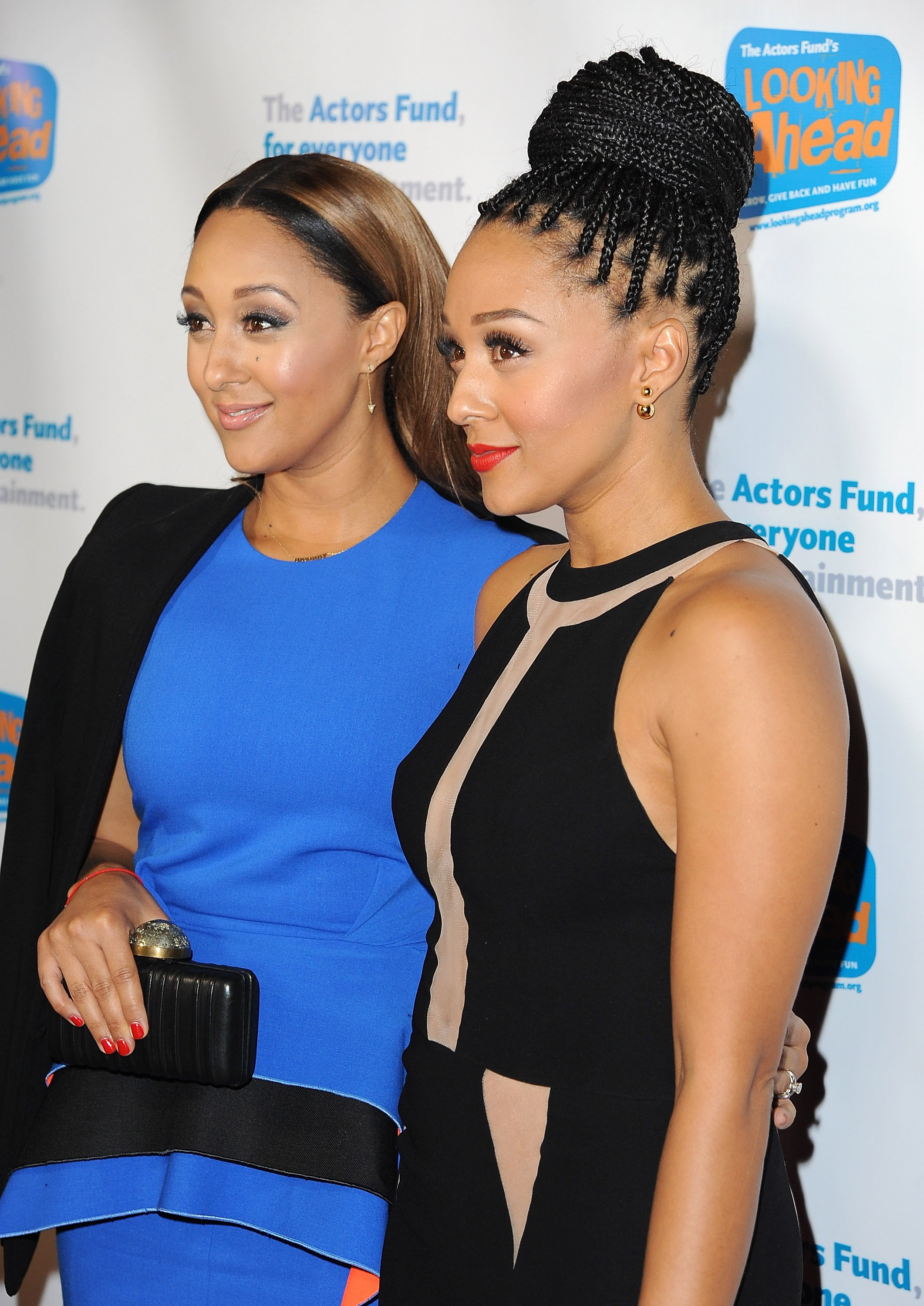 Tamera Mowry-Housley (L) & Tia Mowry-Hardrict at The Actor's Fund 2014 in Hollywood on Dec. 4, 2014.   Photo: Getty Images