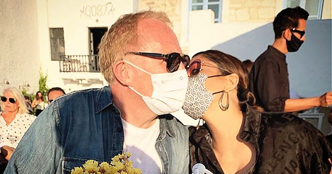 Salma Hayek Shares Rare Photo with Husband François-Henri Pinault While Kissing Him through a Mask