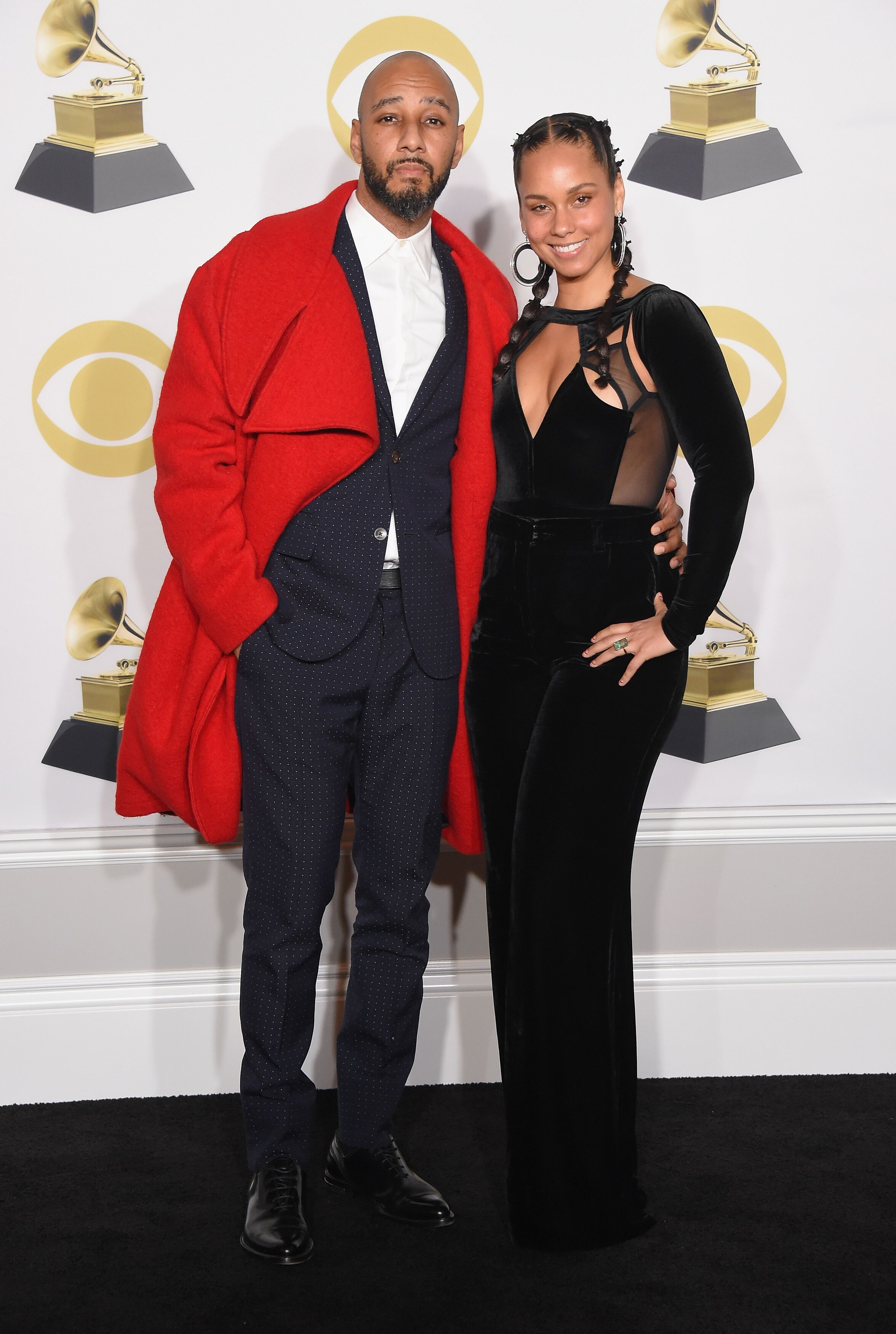Swizz Beatz and Alicia Keys at the 60th Annual GRAMMY Awards in 2018   Source: Getty Images