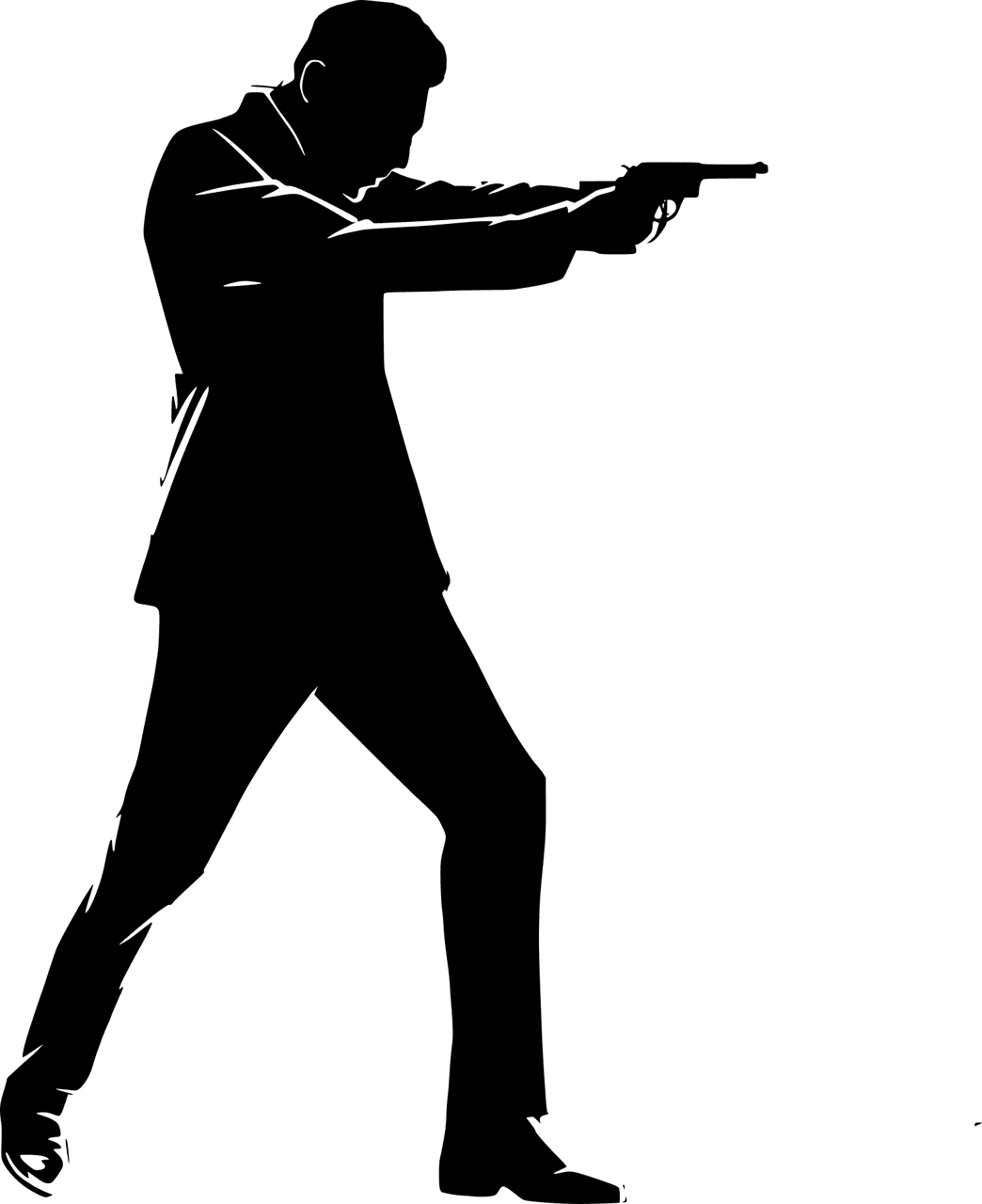 A silhouette of a man pointing a gun. | Source: Pixabay