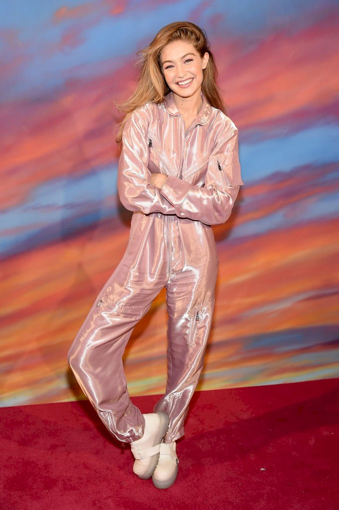Gigi Hadid backstage at the Brandon Maxwell show Photo   Getty Images
