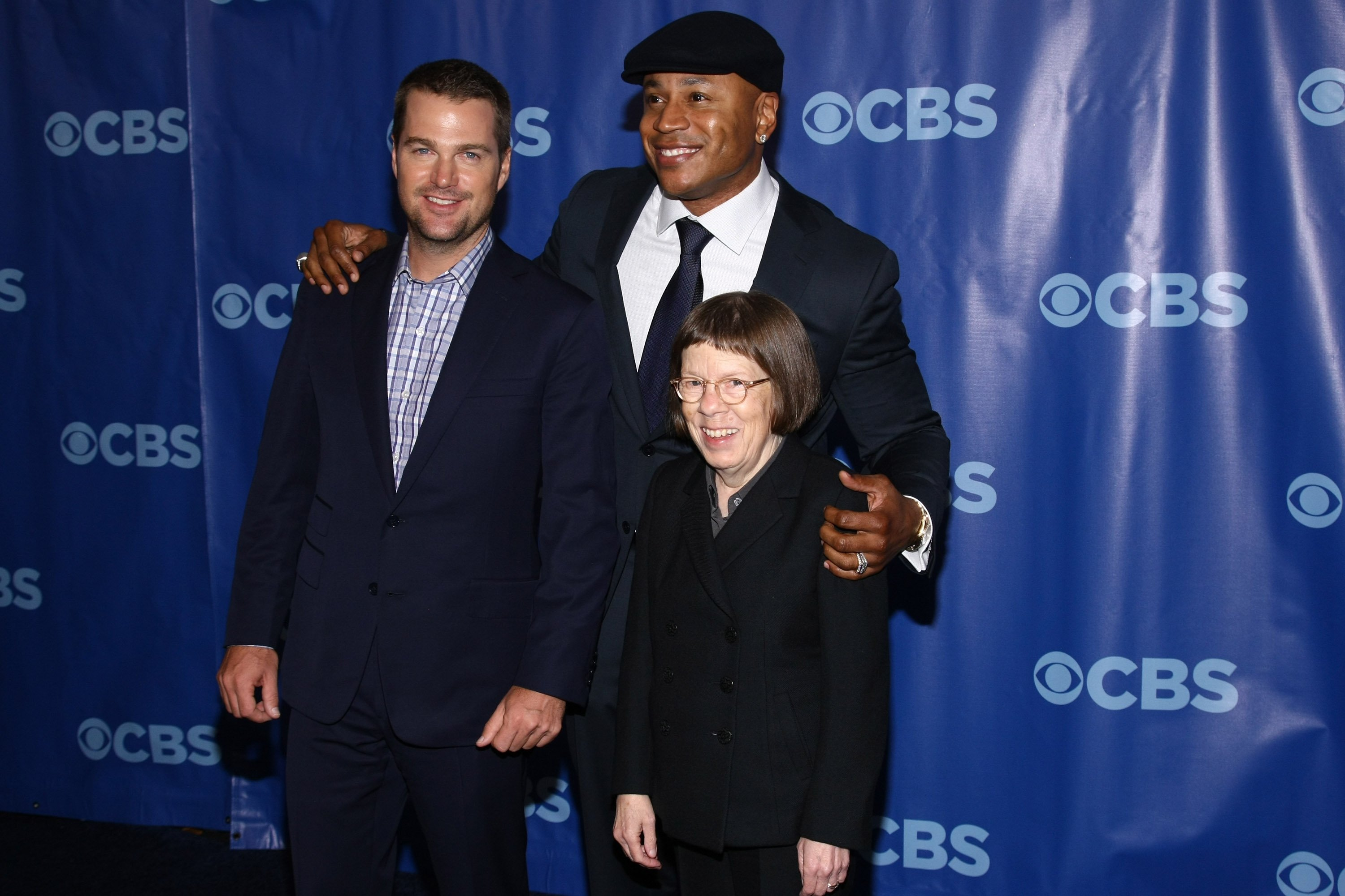 Linda Hunt, Chris O'Donnell, LL Cool J, 2011 CBS Upfront | Quelle: Getty Images
