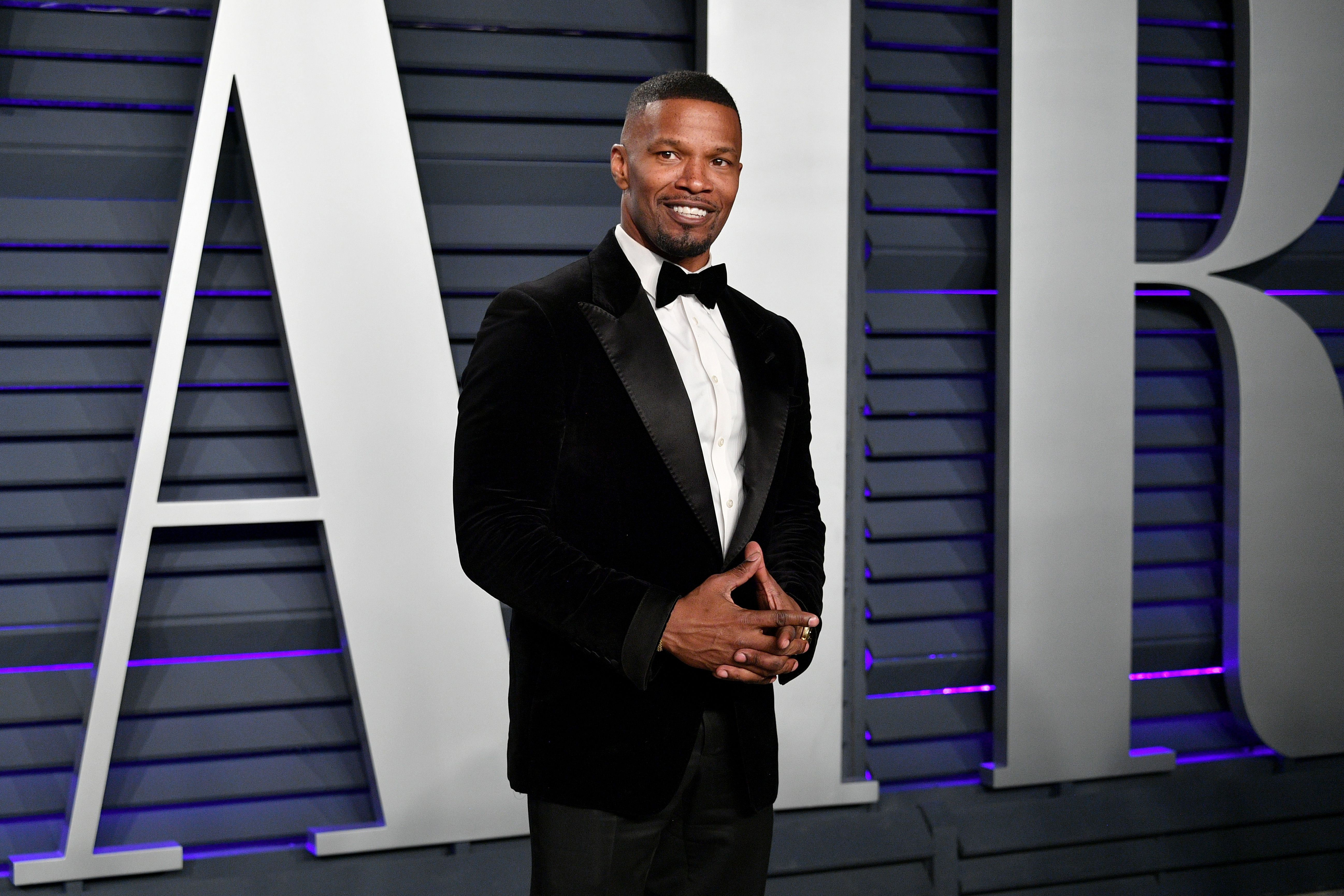 Jamie Foxx at the Vanity Fair Oscar Party on February 24, 2019 in California. | Photo: Getty Images
