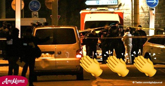 La police a reçu des remerciements particuliers de la part des gens après la mort de Chérif Chekatt